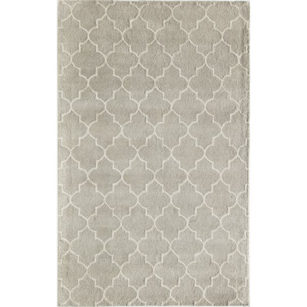 Brucie Geometric Hand-Tufted Wool Gray Area Rug by Darby Home Co
