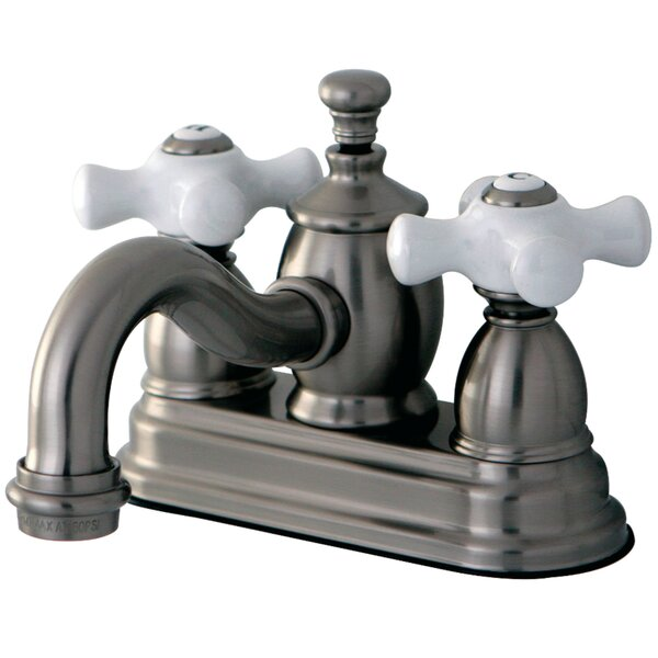 English Country Centerset Bathroom Faucet with Drain Assembly by Kingston Brass Kingston Brass