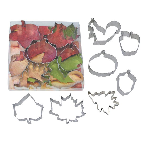 7 Piece Autumn Cookie Cutter Set by R & M International Corp.