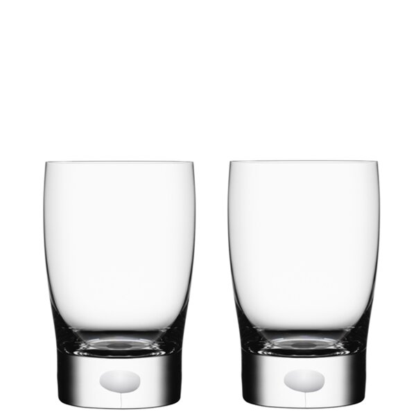 Intermezzo Water/Juice 8 oz. Crystal Every Day Glass (Set of 2) by Orrefors