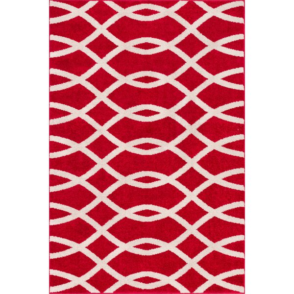 Manning Red Area Rug by Winston Porter