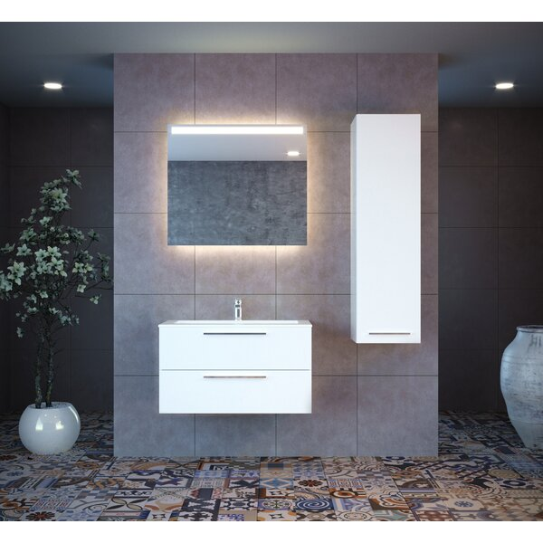 Kyle 47 Wall-Mounted Single Bathroom Vanity Set with Mirror by Orren Ellis