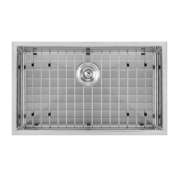 Noah Plus 33 L x 18 W Drop-In Kitchen Sink by Whitehaus Collection