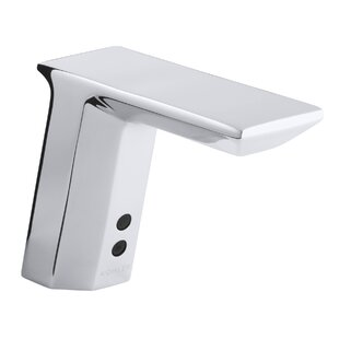 Read Reviews Geometric Single-Hole Touchless Ac-Powered Commercial Bathroom Sink Faucet with Insight Technology, Temperature Mixer and 6-3/4 Spout ByKohler