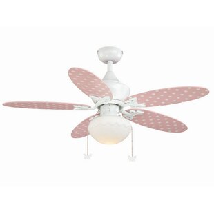 Shabby chic ceiling fan wayfair dupont 5 blade ceiling fan aloadofball Choice Image