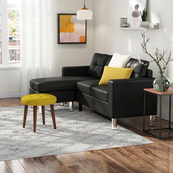 Weekend Shopping Marybelle Convertible Reversible Sectional with Ottoman by Zipcode Design by Zipcode Design