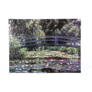 'Bridge at Sea Rose Pond' By Claude Monet Painting Print on Canvas by Charlton Home