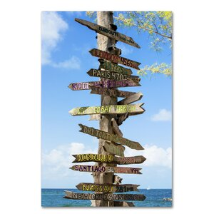 Destination Signs Photographic Print on Wrapped Canvas by Latitude Run