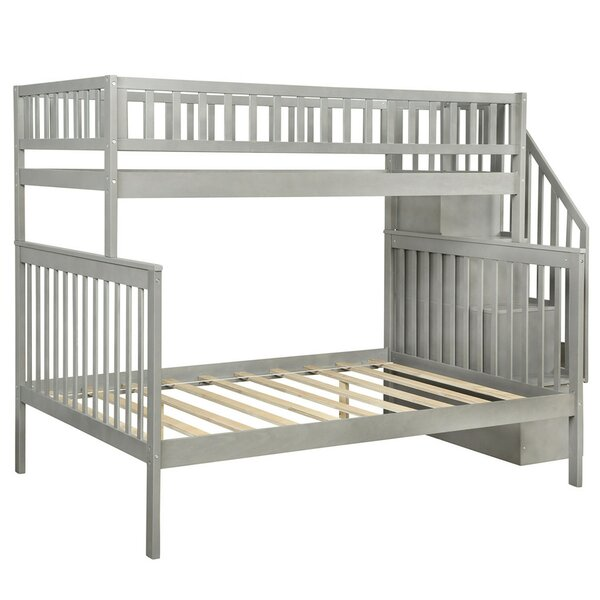 Arias Stairway Twin Over Full Bunk Bed with Trundle by Isabelle & Max