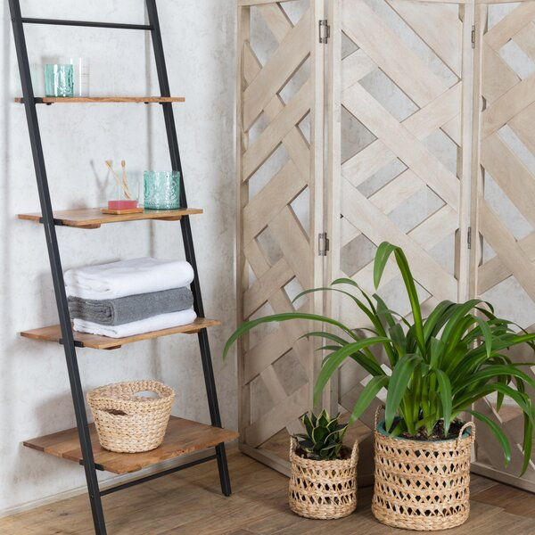 Nugent Claret Shelf Ladder Bookcase by Union Rustic