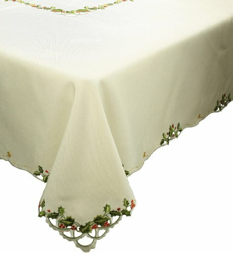 Winter Berry Christmas Table Cloth by Xia Home Fas