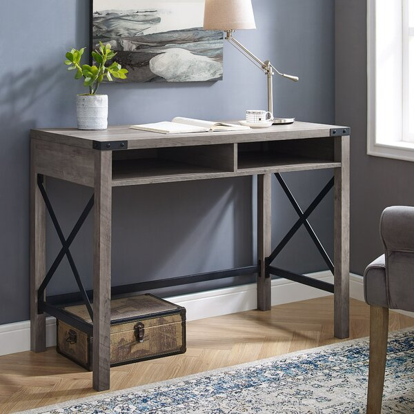 Eby Farmhouse Metal And Wood Desk By Gracie Oaks