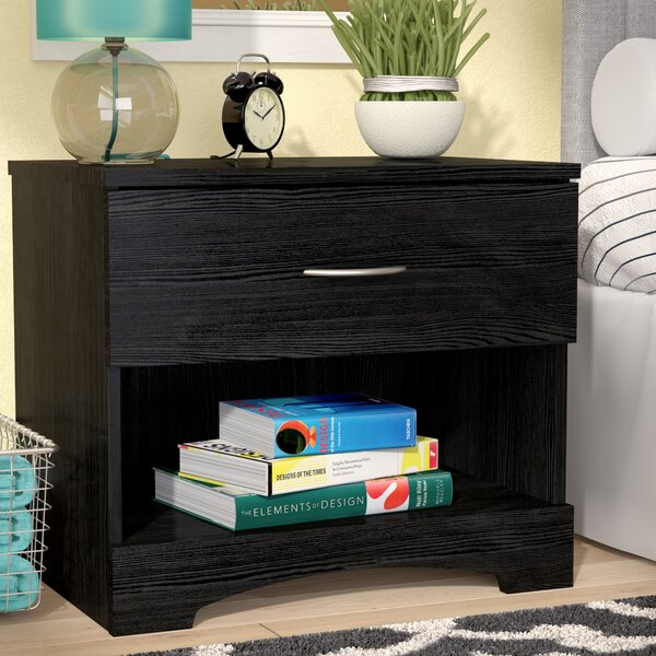 Shreya 1 Drawer Nightstand by Andover Mills