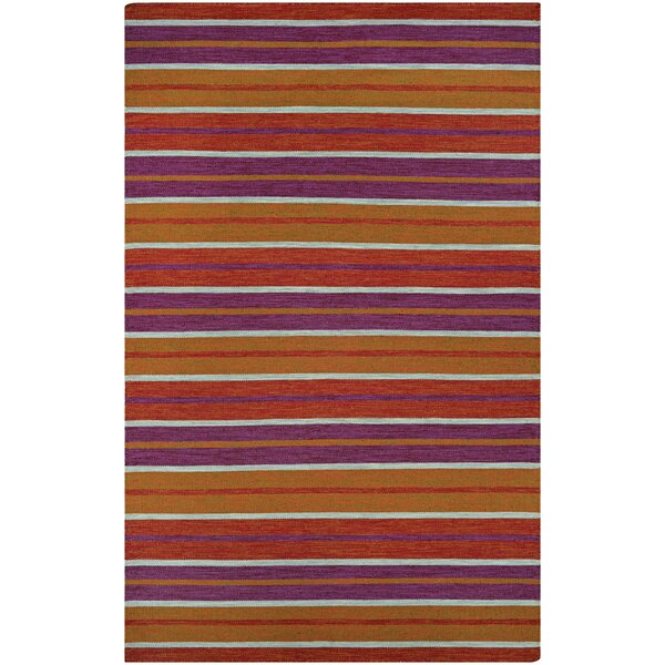 Cordero Coral Hand-Woven Punch Indoor/Outdoor Area Rug by Ebern Designs