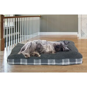 Brando Faux Sheepskin and Plaid Deluxe Dog Pillow