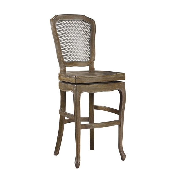 Plutarch 30 Swivel Bar Stool by One Allium WayPlutarch 30 Swivel Bar Stool by One Allium Way
