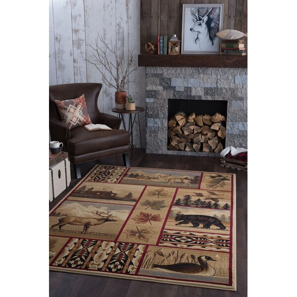 Littlefield Brown/Beige Area Rug by Threadbind