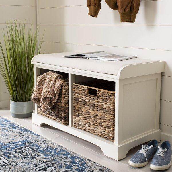 Alonza Pine Wood Storage Bench by Trent Austin Design