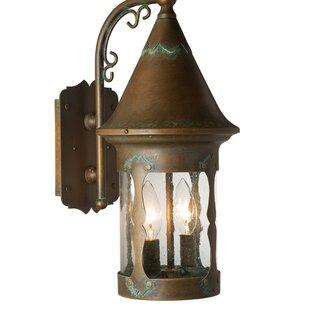 Clearance Atalaya 2-Light Outdoor Wall Lantern By Loon Peak