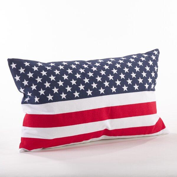 Star Spangled Cotton Throw Pillow by Saro