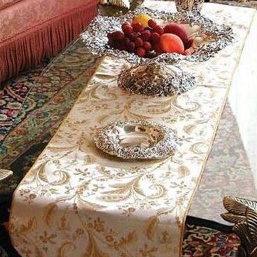 Rockport Damask Design Table Runner by Charlton Home