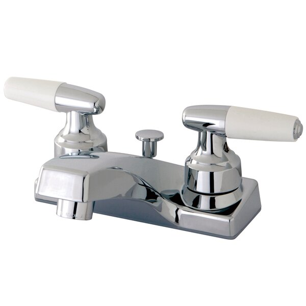 Americana Centerset Bathroom Sink Faucet with Pop-Up Drain by Kingston Brass