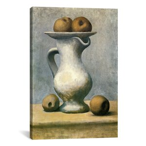 'Still Life with A Pitcher And Apples' by Pablo Picasso Painting Print on Wrapped Canvas by Lark Manor