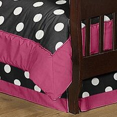 Hot Dot Toddler Bed Skirt by Sweet Jojo Designs