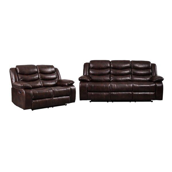 Review Hillard 2 Piece Reclining Living Room Set