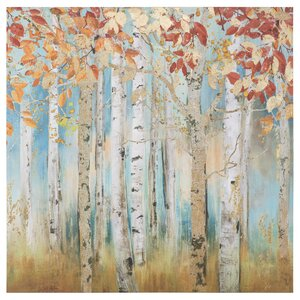 'Birch Beauties I' Painting Print on Wrapped Canvas by Alcott Hill