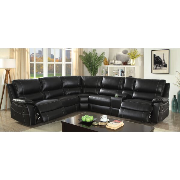 Dineen Leather Reclining Sectional by Red Barrel Studio