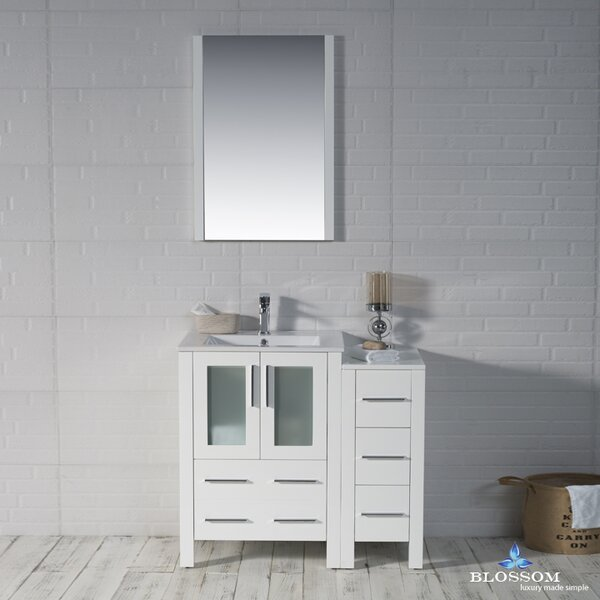 Mance Modern 36 Single Bathroom Vanity Set with Mirror by Orren Ellis
