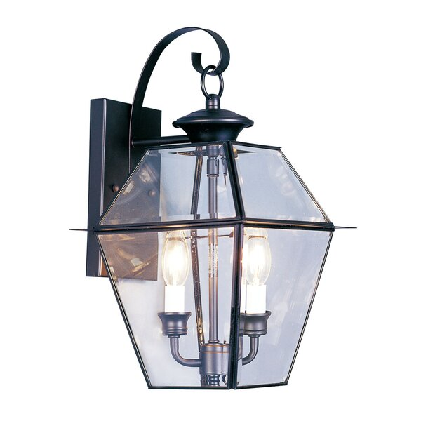 Orchard Lane 2-Light Outdoor Wall Lantern by Three Posts