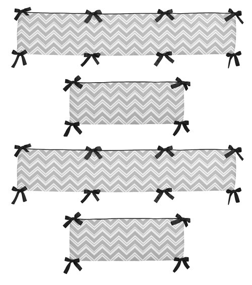 Zig Zag Crib Bumper by Sweet Jojo Designs