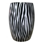 Zebra Ceramic Stool by BIDKhome