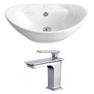 Purchase Ceramic Oval Vessel Bathroom Sink with Faucet and Overflow By Royal Purple Bath Kitchen