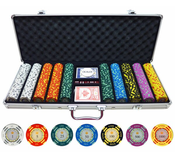 500 Piece Crown Casino Clay Poker Chip by JP Commerce