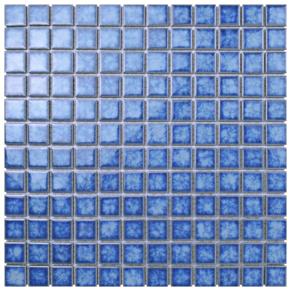Waterfall 1 x 1 Porcelain Mosaic Tile in Baltic by EliteTile