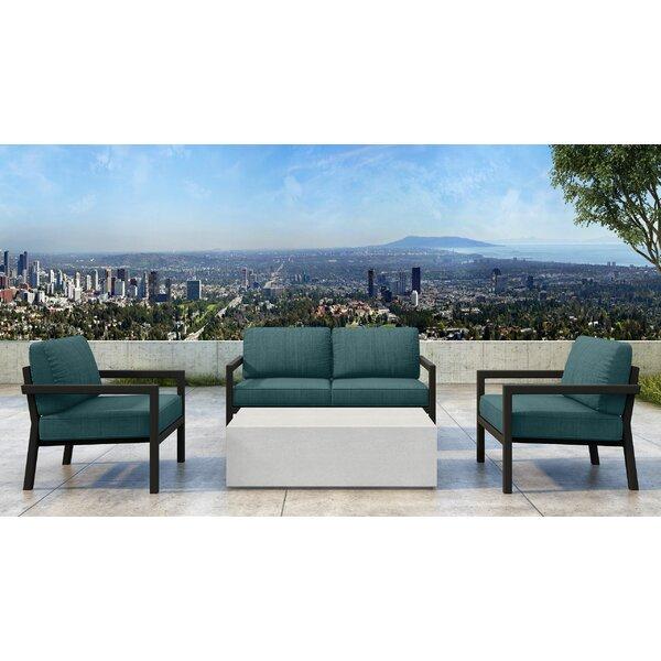 Iliana 4 Piece Sofa Seating Group with Sunbrella Cushions by 17 Stories