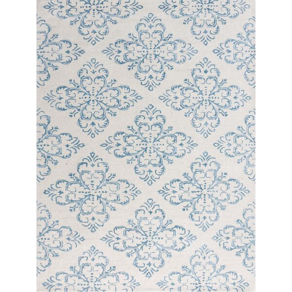Zada Hand-Tufted Ocean Blue Area Rug by Ophelia & Co.
