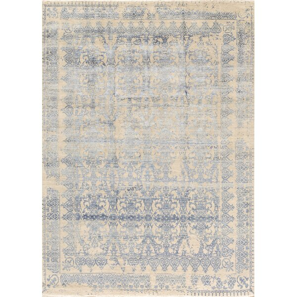 Brookhaven Oriental Hand-Knotted Wool Silver/Blue Area Rug