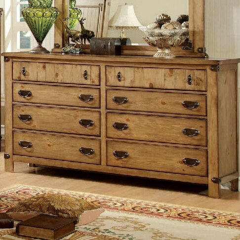 Shellson 8 Drawer Double Dresser by Millwood Pines