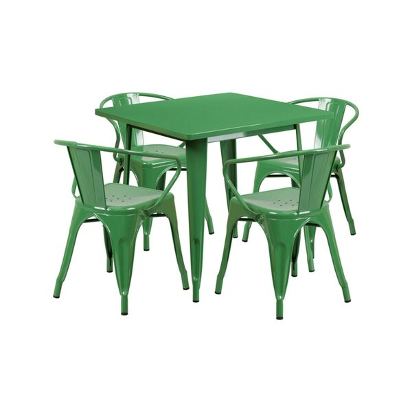 Cotter Metal 5 Piece Dining Set by Zipcode Design
