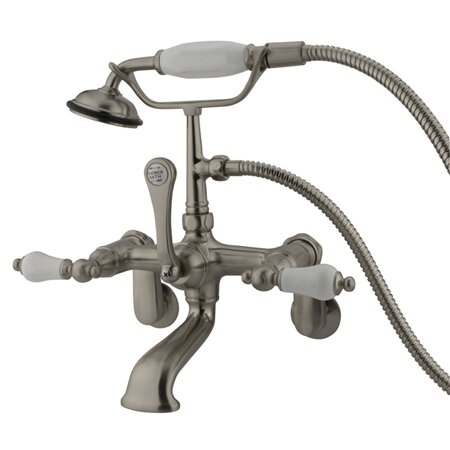 Hot Springs Double Handle Wall Mount Clawfoot Tub Faucet Trim by Elements of Design