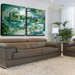 U0027Smash Xu0027 Oversized 2 Piece Painting Print On Canvas Set