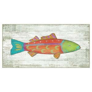 'Fish 1' Painting Print on Plaque by Highland Dunes