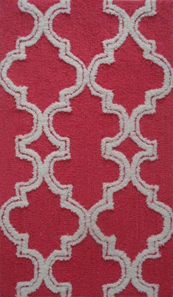 Handmade Raspberry/White Area Rug by Park Avenue Rugs