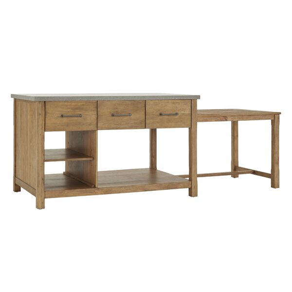 Evelyn Kitchen Island by 17 Stories