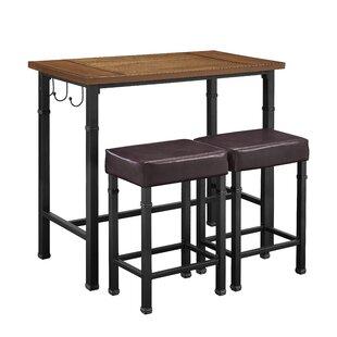 Sevigny 3 Piece Pub Table Set  sc 1 st  AllModern & Modern \u0026 Contemporary 3 Piece Pub Table Set | AllModern
