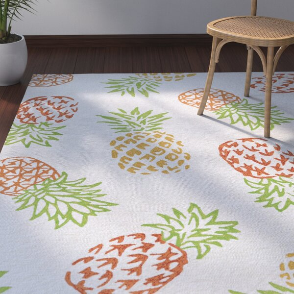 Wallingford Hand Hooked Red/Orange Indoor/Outdoor Area Rug by Bay Isle Home